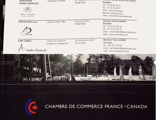 Aube conseil paris montr al news for Chambre de commerce france canada